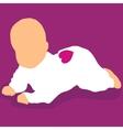 baby lying on floor vector image