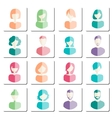 Abstract avatars vector image