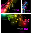 abstract business cards vector image vector image