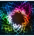 Abstract colorful neon grid background vector image vector image