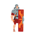 ancient rome warrior male roman legionnaire vector image