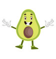 avocado is smiling on white background vector image vector image