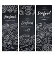 banners seafood chalkboard vector image