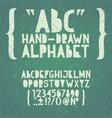 blackboard chalkboard chalk hand draw doodle abc vector image vector image