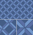 Blue Chevron vintage seamless pattern vector image vector image