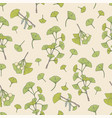 botanical seamless pattern with green ginkgo vector image vector image