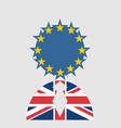 britain and european union relationships brexit vector image vector image