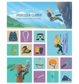 Climber Icon Flat vector image vector image