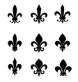 Collection of fleur de lis symbols vector image vector image