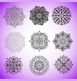 collection of mandalas for coloring pages vector image vector image