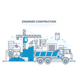 construction houses buildings construction sites vector image vector image