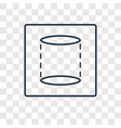 cylinder concept linear icon isolated on vector image