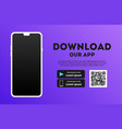 download page mobile app empty screen vector image vector image