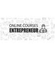 entrepreneur concept with business doodle design vector image vector image