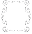 frame on white background Hand drawing vector image vector image