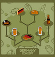 germany color concept isometric icons vector image vector image