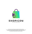 good shop logo template design great shop logo vector image