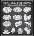 grunge chalkboard food vector image vector image
