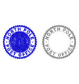 grunge north pole post office scratched stamps vector image vector image