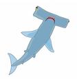 Hammerhead shark icon cartoon style vector image vector image