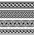 irish celtic seamless braided design vector image vector image