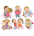kids with love vector image vector image