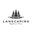 landscaping tree forest logo and icon design vector image
