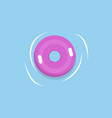 lifebuoy or lifesaver isolated pink rubber in sea vector image vector image