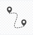 map location icon isolated on transparent vector image