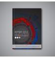 modern dark abstract brochure design template vector image vector image