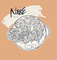 nabe japanese hot pot hand draw sketch vector image vector image