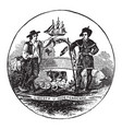 official seal us state delaware in vector image vector image