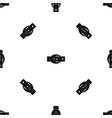oval belt buckle pattern seamless black vector image vector image