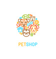Pet logo design elements vector image vector image