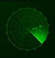 radar blip detection objects on radar vector image vector image