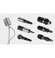 realistic microphones sound studio equipment vector image vector image