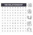 realtionship line icons signs set vector image vector image