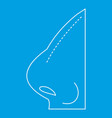 rhinoplasty icon outline style vector image vector image