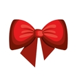 ribbon bown decoration isolated icon vector image