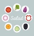 salad vegetables menu healthy image vector image vector image