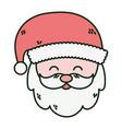 santa claus face merry christmas card vector image
