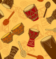seamless pattern percussion vector image vector image