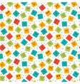 Seamless pattern with smiley squares Cute cartoon vector image vector image