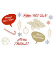 set of colorful christmas elements decorations vector image vector image