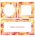 set of three abstract autumn frames vector image