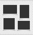 set retro realistic photo frames vector image vector image