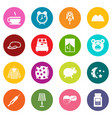 sleep icons many colors set vector image vector image
