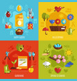 spring easter 2x2 icons set vector image