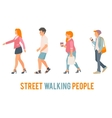 street walking people vector image