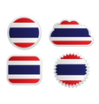 Thailand flag labels vector image